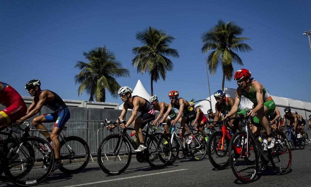 Segundo os atletas de elite do triatlo que disputaram o Aquece Rio na manhã deste domingo, o Rio teve saldo favorável no primeiro grande evento-teste para os Jogos Olímpicos de 2016 Fernando Lemos / Agência O Globo