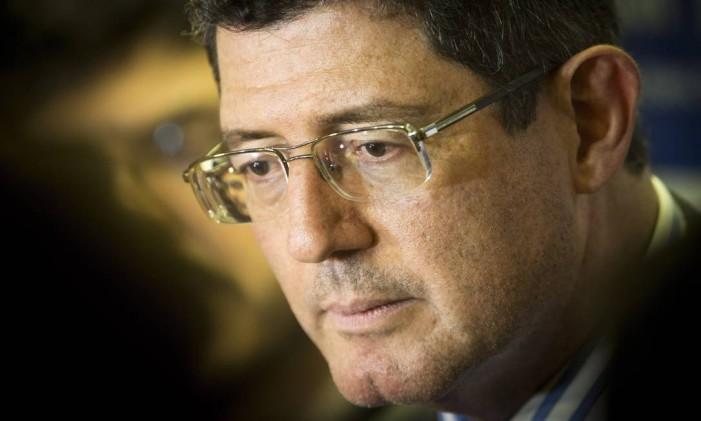 O ministro da Fazenda, Joaquim Levy, comanda a equipe econômica que implementou as medidas de ajuste fiscal Foto: Agência O Globo / Guito Moreto/29-5-2015