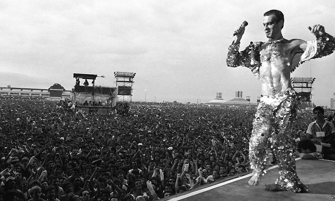 Show de Ney Matogrosso abriu o primeiro Rock in Rio da História Foto: Arquivo O Globo