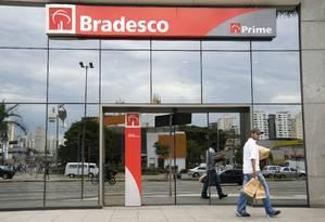 Agência do Bradesco em São Paulo Foto: Paulo Fridman/3-8-2009 / Bloomberg News
