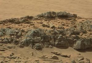 Imagem foi captada pela sonda robótica Curiosity na superfície de Marte Foto: NASA