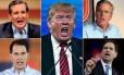 Apenas entre os nomes mais conhecidos dos 16 candidatos, estão Ted Cruz, Donald Trump, Jeb Bush, Marco Rubio e Scott Walker