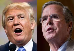 Trump e Bush são os principais nomes nesta etapa da disputa republicana Foto: AP