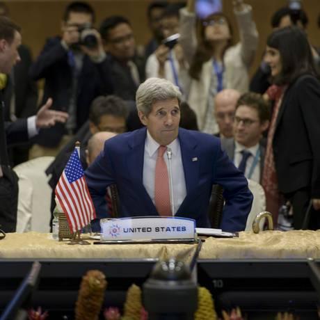 O secretário de Estado dos EUA, John Kerry, participa de reunião da Asean, em Kuala Lumpur, na Malásia Foto: POOL / Reuters