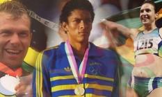 Robert Scheidt, da vela; Joaquim Cruz, do Atletismo; e Maurren Maggi, do salto em distância: exemplos do Brasil vencedor em Olimpíadas Foto: Arte O Globo
