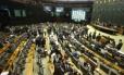 Câmara durante aprovação do regime de urgência para análise das contas anteriores