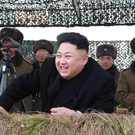 Kim Jong Un, símbolo da Paz para os indonésios Foto: KCNA / REUTERS