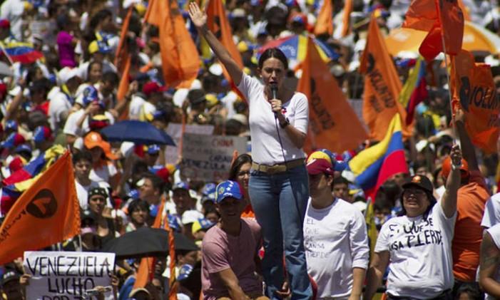 Oposição venezuelana Foto: AP
