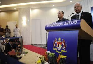 Premier Najib Razak confirma destroço como sendo do MH370 Foto: MOHD RASFAN / AFP