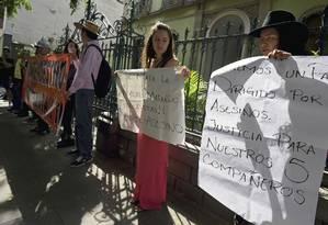 Manifestantes protestam contra o governo de Veracruz após morte de fotojornalista Foto: ALFREDO ESTRELLA / AFP
