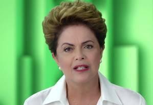Presidente Dilma Roussef durante programa do Partido dos Trabalhadores Foto: Reprodução