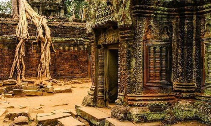 Templo Ta Prohm, em Siem Reap, no Camboja Foto: Instagram / @wfreitas327