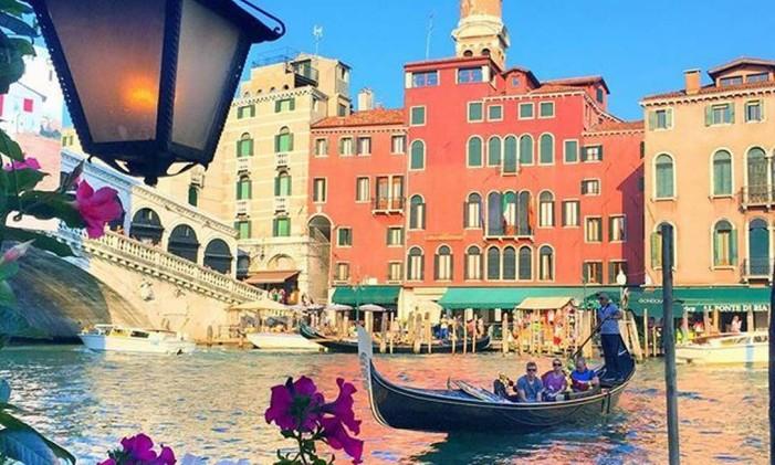 Fim de dia em Veneza, Itália Foto: Instagram / @thiago.lopez