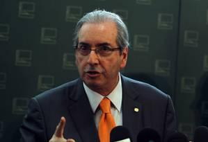 O presidente da Câmara, Eduardo Cunha (PMDB-RJ) Foto: Givaldo Barbosa / Agência O Globo