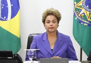 Dilma participa de audiência com coordenadoras da Marcha das Margaridas, no Palácio do Planalto Foto: Ailton de Freitas / Agência O Globo