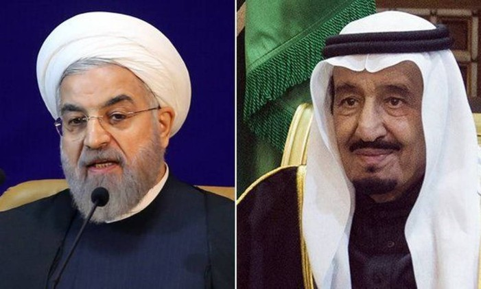 Rouhani e Salman: tensões ainda não preenchidas com outras soluções Foto: AFP