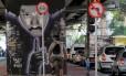Ciclovia sob o Minhocão, que será inaugurada oficialmente no próximo domingo: plano é fechar completamente o viaduto no final de semana