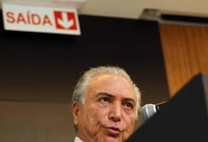 O vice-presidente da República, Michel Temer Foto: Givaldo Barbosa / Arquivo O Globo