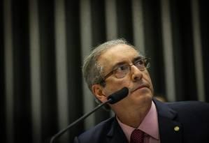 Eduardo Cunha, presidente da Câmara Foto: ANDRE COELHO / Agência O Globo