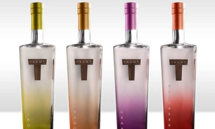Os quatro sabores da Trump Vodka Foto: Divulgação