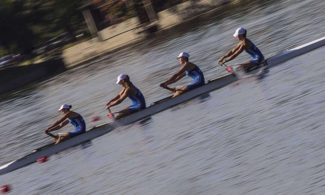 O Campeonato Mundial Júnior de Remo serviu para testar raias e instalações na Lagoa ANTONIO SCORZA / Agência O Globo