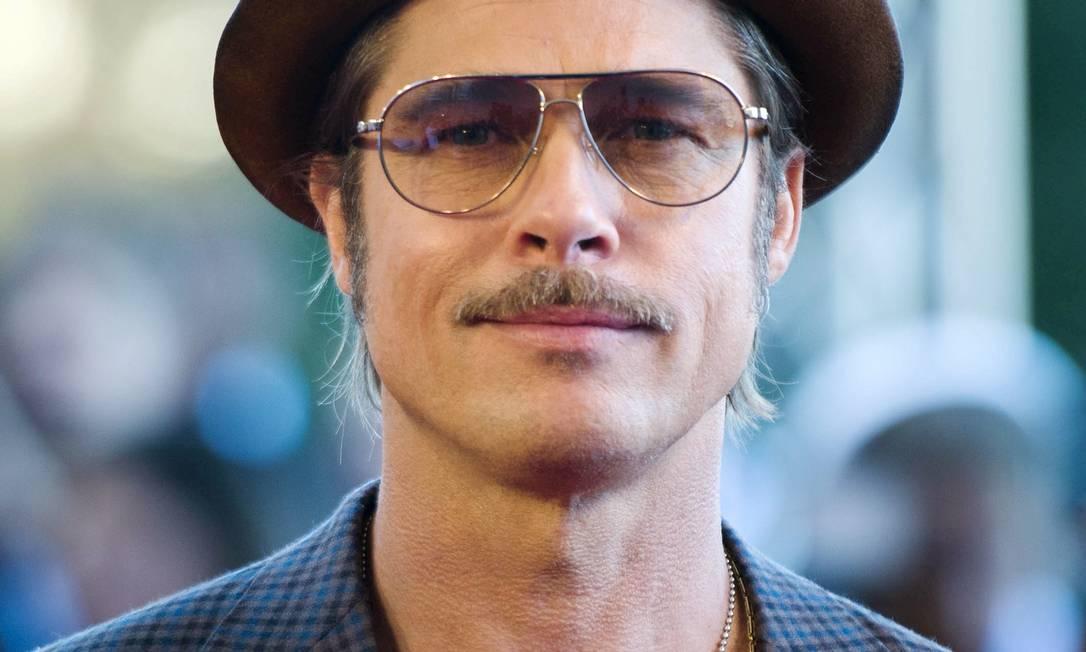 Brad Pitt continua arrebatando corações... MARTIN BUREAU / AFP