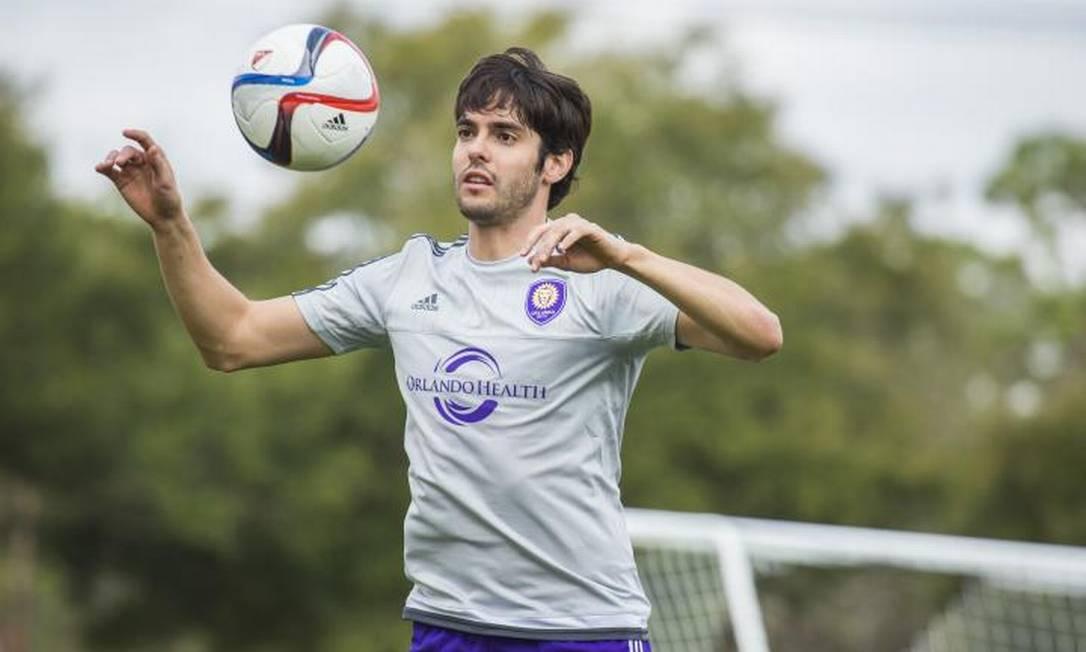 E para fechar a lista: Kaká, o jogador que atualmente está no Orlando City, dos Estados Unidos Divulgação/Orlando City