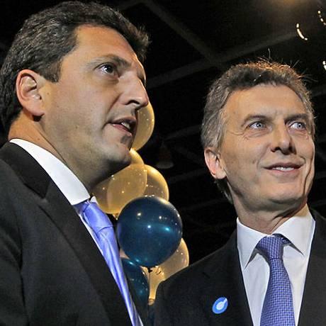Sergio Massa e Mauricio Macri: união contra Scioli? Foto: La Nación/GDA