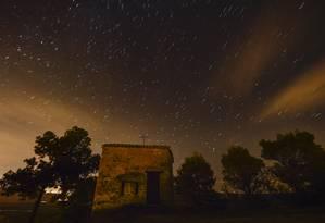 Fenômeno pôde ser visto no norte da Espanha Foto: Alvaro Barrientos / AP