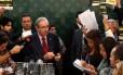 O presidente da Câmara, Eduardo Cunha (PMDB-RJ), durante entrevista