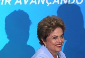 A presidente Dilma Rousseff, durante Cerimônia de anúncio do Programa de Investimento em Energia Elétrica Foto: Givaldo Barbosa / Agência O Globo