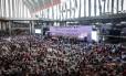 Na terça-feira, um palco foi montado para os debates, discursos e painéis que antecederam a abertura da Marcha das Margaridas, no estádio Mané Garrincha, em Brasília.