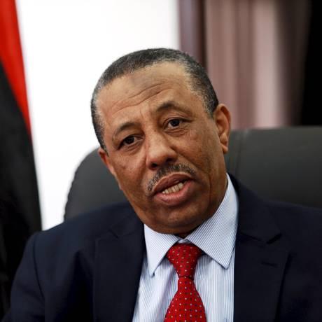 Premier da Líbia que é reconhecida internacionalmente, Abdullah al-Thinni afirma ter desistido do cargo Foto: ESAM OMRAN AL-FETORI / REUTERS