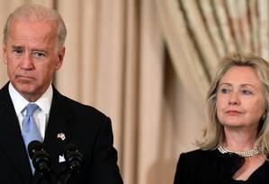 Biden e Hillary: de aliados a rivais? Foto: Reuters