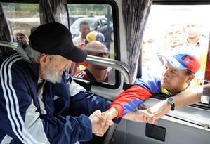 Fidel Castro em uma das suas últimas aparições públicas, em março deste ano Foto: -- / AFP