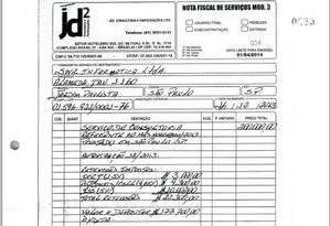 Nota fiscal de serviços da consultoria de José Dirceu Foto: Reprodução