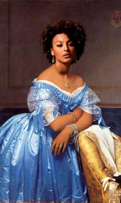 A atriz Sheron Menezzes como a Princesa Albert de Broglie, de Ingres Alberto Pereira