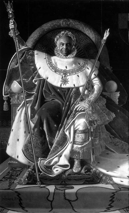Gilberto Gil substitui Napoleão, em outra pintura de Ingres Foto: Alberto Pereira