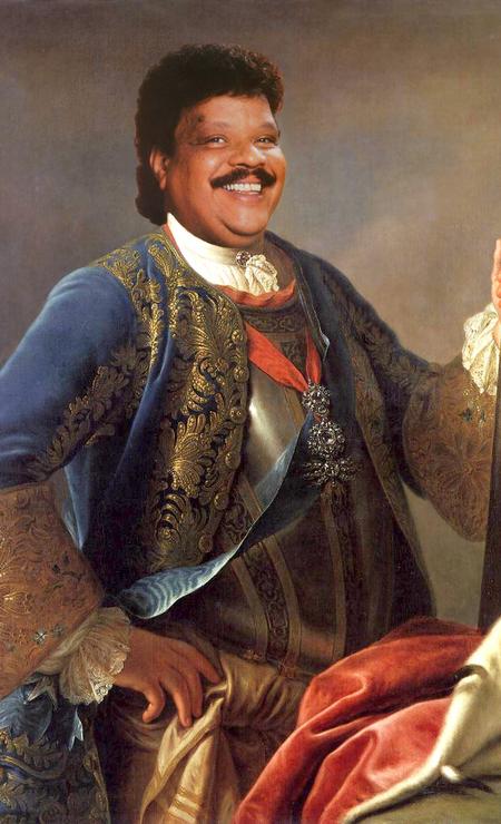 O cantor Tim Maia como o rei Augusto III da Polônia Foto: Alberto Pereira