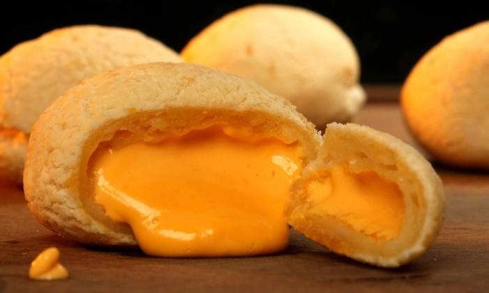 Pão de queijo recheado com chedar do Megamatte Foto: Divulgação