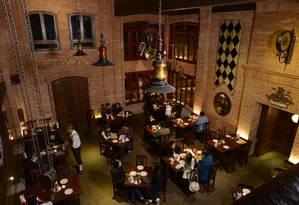 Ambiente do restaurante da cervejaria Therezópolis Foto: Divulgação