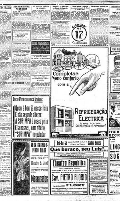 Cerveja Supimpa, da Brahma. Anúncio de cerveja de 1928 já tinha um tom descontraído quando a Brahma lançou a Cerveja Supimpa (que significa superior, excelente). O texto apontava para a ligação entre as duas marcas Reprodução