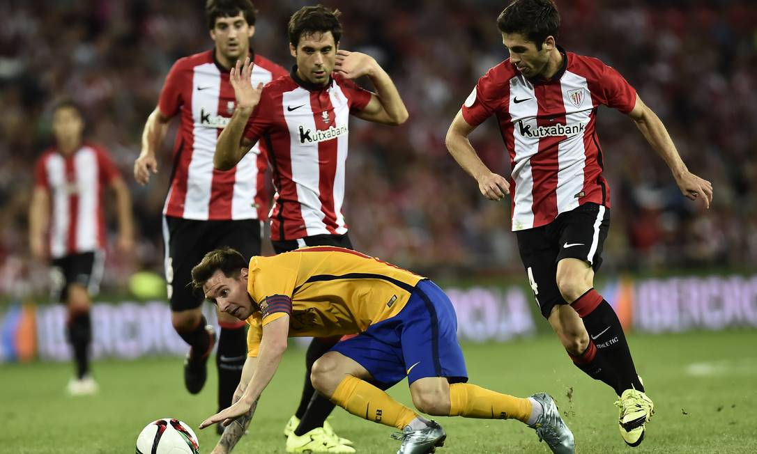 Dessa vez Messi passou em branco Alvaro Barrientos / AP