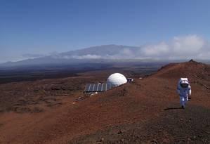 Missão no Havaí simula exploração a Marte Foto: DIVULGAÇÃO/HI-SEAS / divulgação/hi-seas