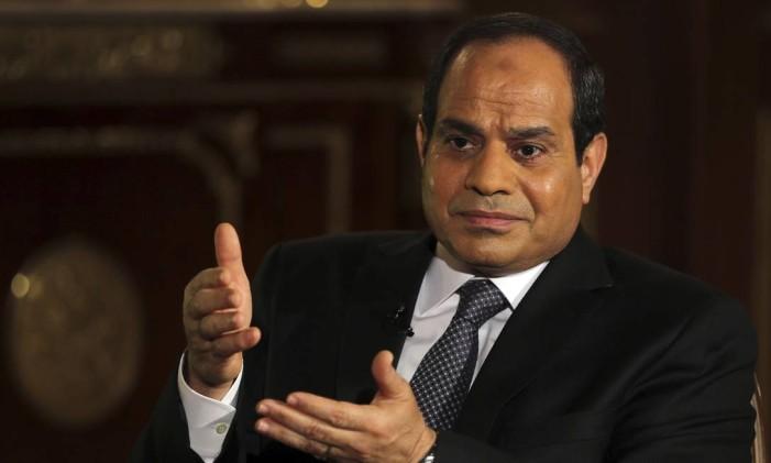 O presidente egípcio, Abdel Fattah al-Sisi, costuma fazer discursos criticando reportagens de oposição ao seu regime Foto: AMR ABDALLAH DALSH / REUTERS