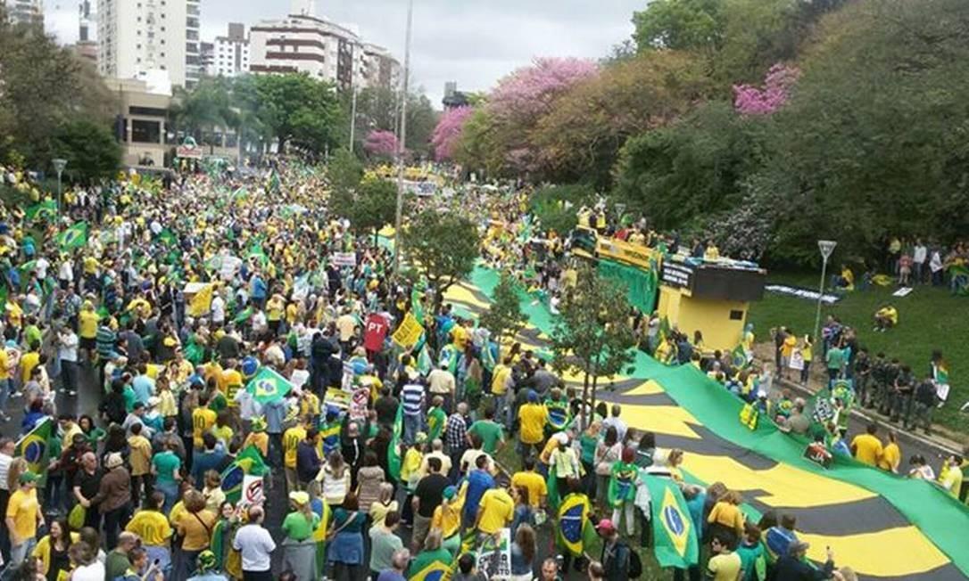Na capital gaúcha, o protesto ocorreu no Parque Moinhos de Vento Foto: Flávio Ilha