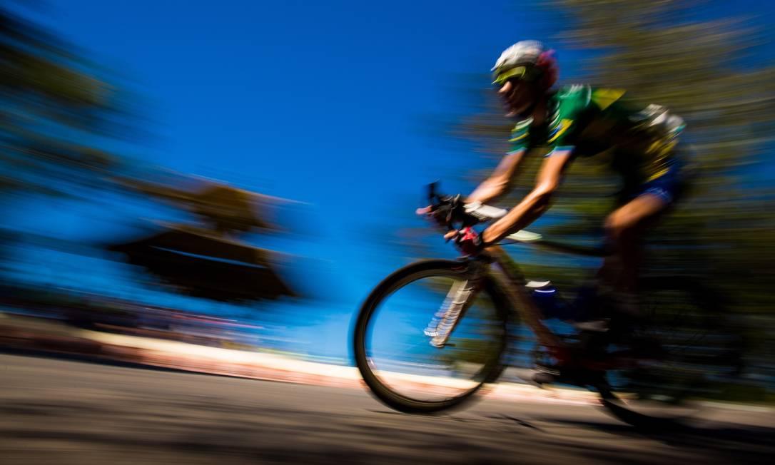 Com a Vista Chinesa como um dos planos de fundo, Rio recebeu o Desafio Internacional de Ciclismo de Estrada no domingo: Kléber da Silva, sétimo colocado, foi o brasileiro melhor classificado. Daniel Marenco / Agência O Globo