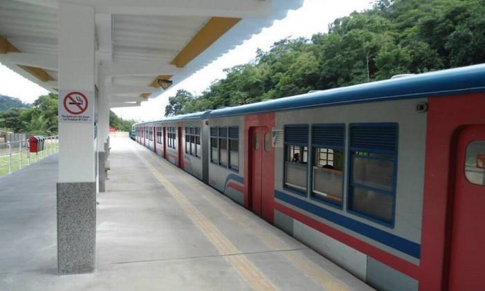A estação de Vila Inhomirim Foto: Divulgação
