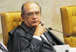 O ministro do STF Gilmar Mendes Foto: Jorge William / Agência O Globo