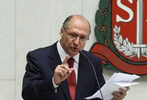 Governador de São Paulo, Geraldo Alckmin (PSDB) Foto: Marcos Alves / Arquivo O Globo